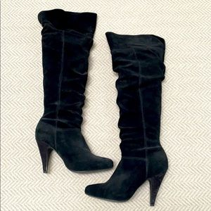 ALDO Black Suede Boots. Over the knee or fold down